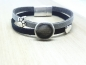 Mobile Preview: Tierhaarschmuck - Lederarmband